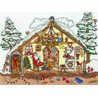 Cut Thru' Christmas Bothy Cross Stitch Kit