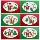 Santa & Rudolf Christmas Card Kits (set of 6)