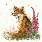 Amongst The Foxgloves Cross Stitch Kit