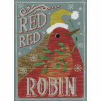 Red Red Robin Cross Stitch Kit