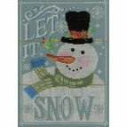 Let It Snow Cross Stitch Kit