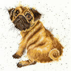Hannah Dale Pug Cross Stitch Kit