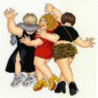 Beryl Cook Girls Night Out Cross Stitch Kit