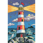 Lighthouse By Night Cross Stitch Kit