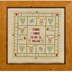 Four Hearts Birth Sampler Cross Stitch Kit