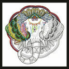 Elephant Zenbroidery Fabric Pack