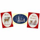 Christmas Trio Card Collection - Set Of 3 Cross Stitch Christmas Card Kits
