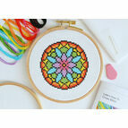 Beginners Modern Flower - Learn How To Cross Stitch Complete Tutorial Kit