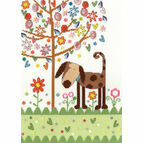 Daisy Patch Dog Cross Stitch Kit