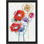 Modern Floral Cross Stitch Kit