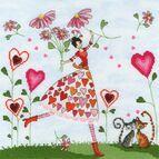 Miss Heart Cross Stitch Kit