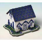 Delphinium Cottage 3D Cross Stitch Kit