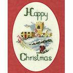 Christmas Village Cross Stitch Card Kit