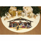 Nativity Scene Cross Stitch Tree Skirt / Table Cover Kit