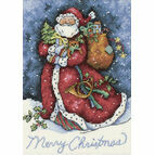 Merry Christmas Santa Cross Stitch Kit