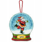 Joy Snow Globe Cross Stitch Ornament Kit