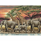 African Sunset Cross Stitch Kit