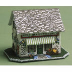The Village Shop 3D Cross Stitch Kit