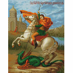 St George & The Dragon Cross Stitch Kit