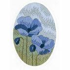 Blue Poppy Long Stitch Card Kit