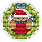 Robin Wreath Cross Stitch Card Kit