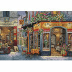 European Bistro Cross Stitch Kit