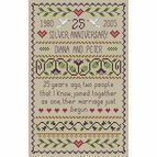 Silver Wedding Anniversary Cross Stitch Kit