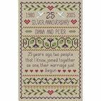 Silver Wedding Anniversary Cross Stitch Kit