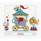 Circus Birth Sampler Cross Stitch Kit