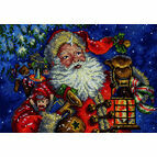 Night Time Santa Cross Stitch Kit