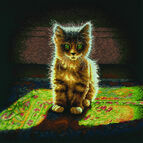 Warm & Fuzzy Kitten Cross Stitch Kit