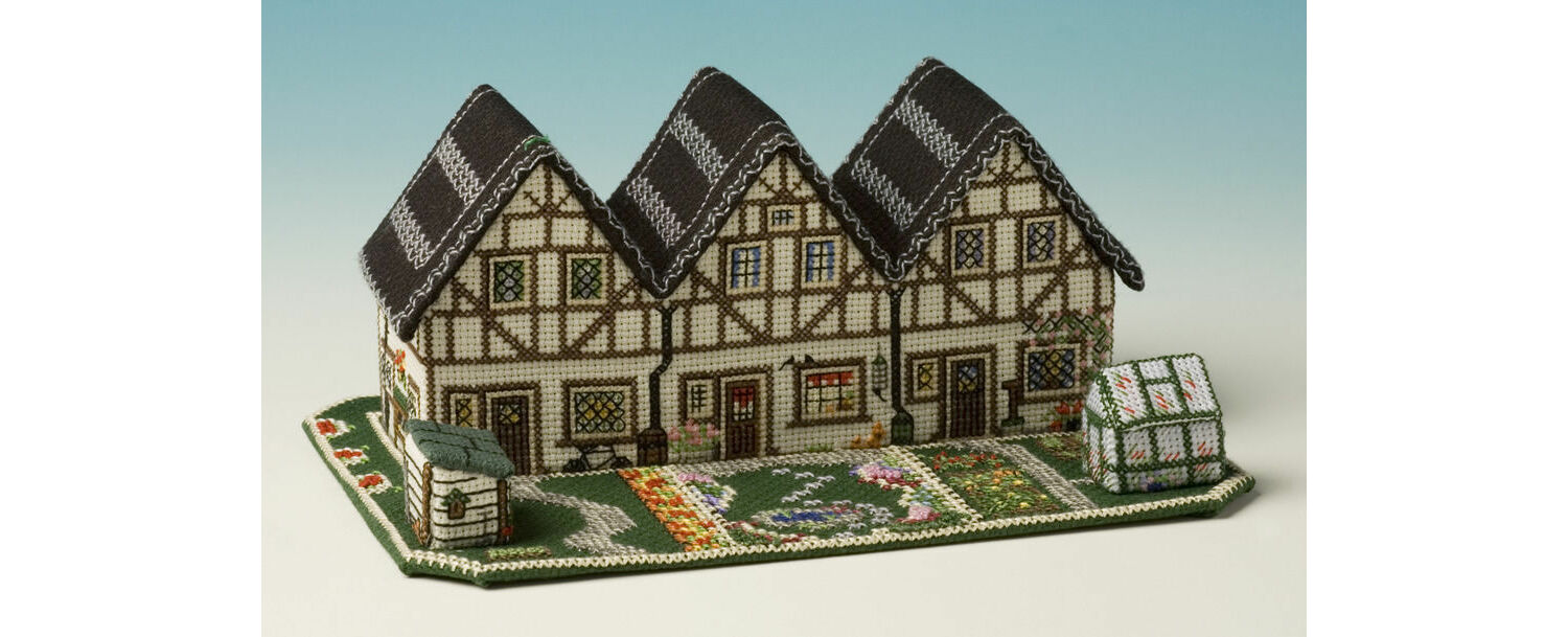 Delphinium Cottage 3D Cross Stitch Kit