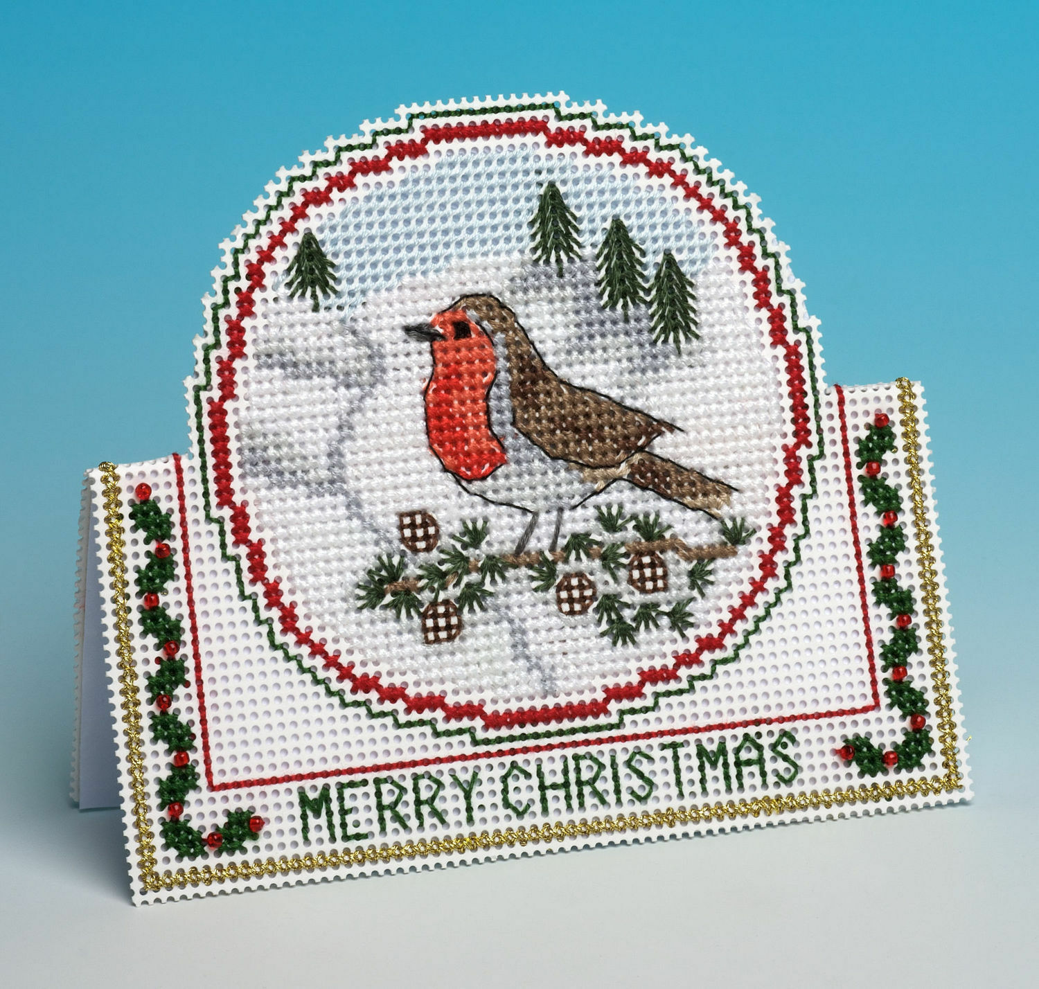 The Nutmeg Company Doves /& Robbins 3D Counted Cross Stitch Card Kit