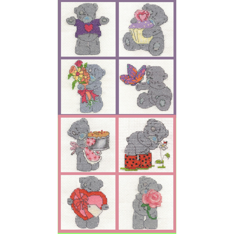 DMC Me to you Tatty Teddy Mini Counted Cross stitch Kit Spring Time