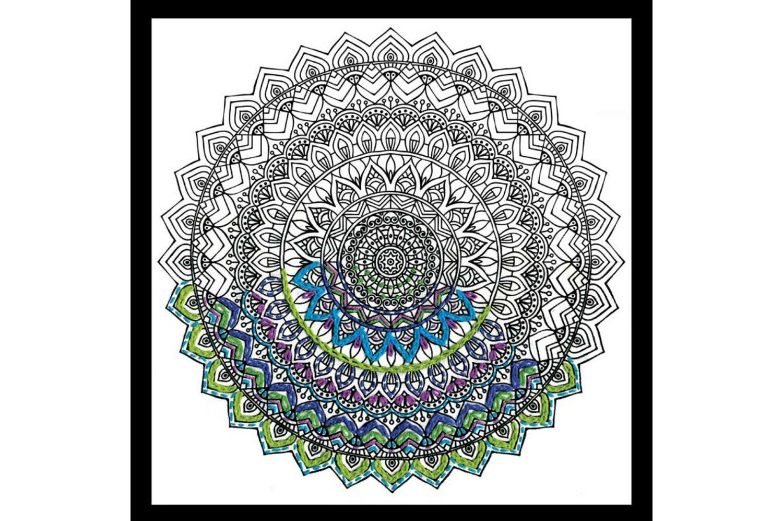 Mandala Zenbroidery Printed Fabric
