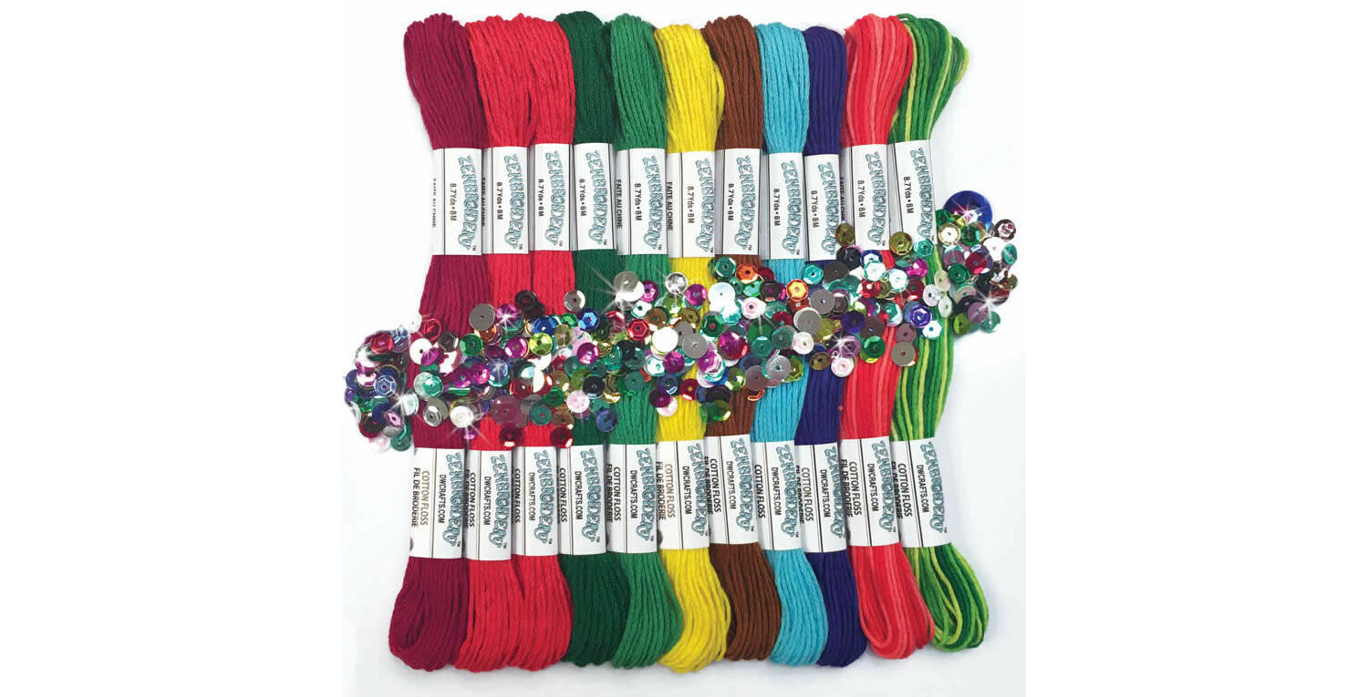 Brights Trim Pack Kit 12 skeins of stranded cotton thread