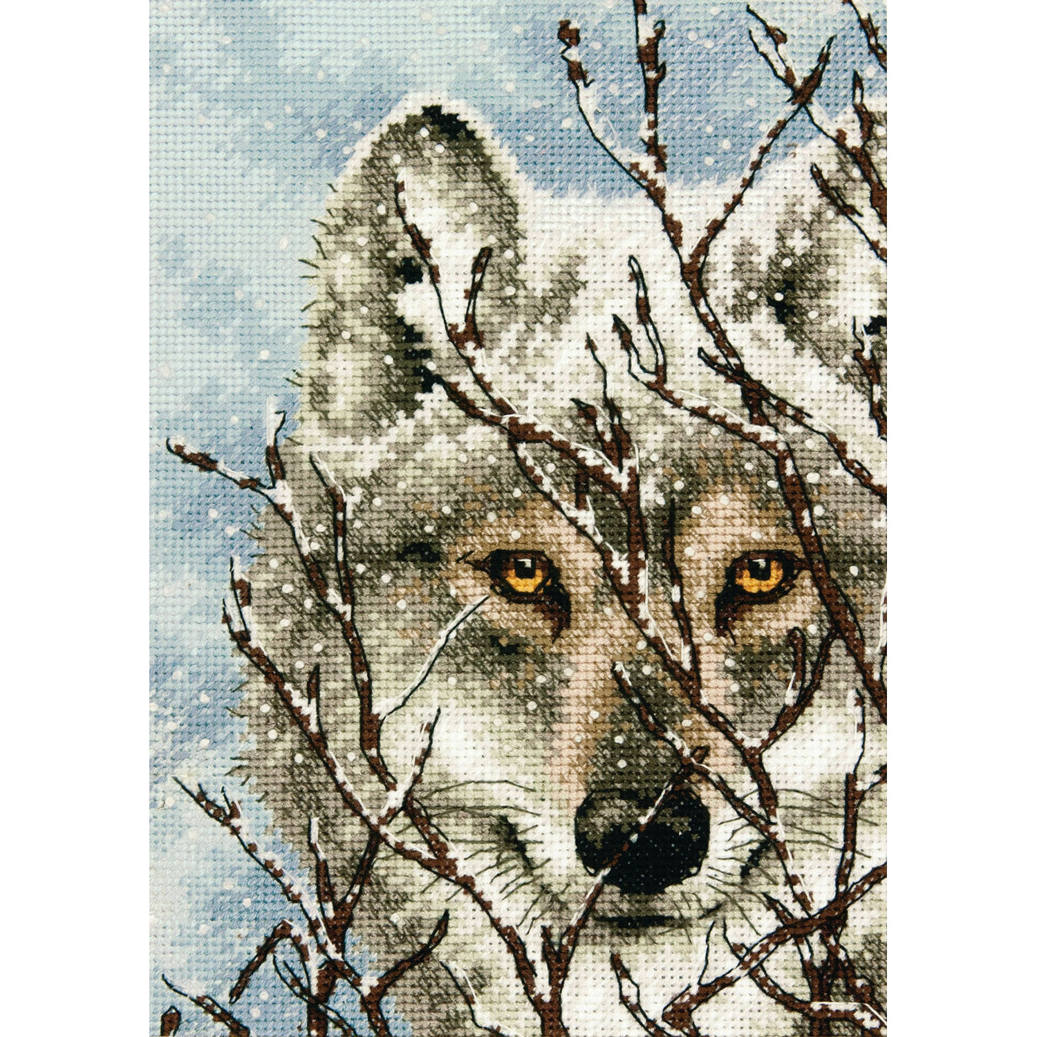 American Indian /& Wolves Counted Cross Stitch Kit Cultural Animals