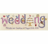 Wedding Word Sampler Cross Stitch Kit