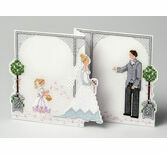 Bride & Groom Deluxe Wedding Card 3D Cross Stitch Kit