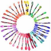 Embroidery Floss - Rainbow Colous (36 skeins)