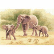 Elephants Cross Stitch Kit