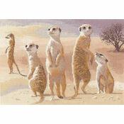 Meerkats Cross Stitch Kit (Power & Grace)