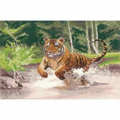 Tiger - Power & Grace Cross Stitch Kit