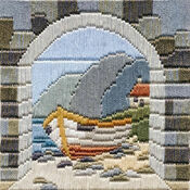 Boat Through Archway Long Stitch Kit