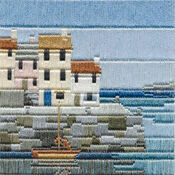Fishermen\'s Cottages Long Stitch Kit