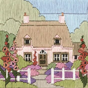 Hollyhock Cottage Long Stitch Kit