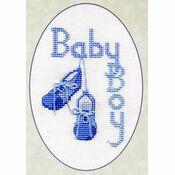 Baby Boy Cross Stitch Card Kit