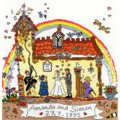 Cut Thru' Wedding Cross Stitch Kit