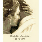 Tender Moment Wedding Sampler Cross Stitch Kit