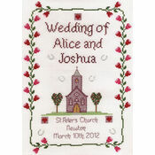 Church Wedding Cross Stitch Kit